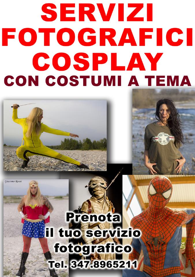Servizi fotografici cosplay. Prenota il tuo servizio fotografico